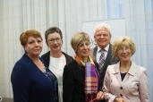 Das neugewählte Präsidium mit LAbg. Ingrid Korosec